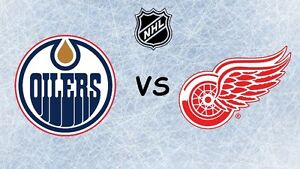 OILERS VS RED WINGS, MARCH 4, 3 TICKETS