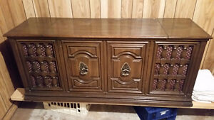 Vintage Console Floor Stereo Turntable