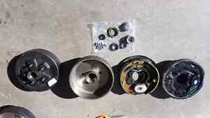 Brake assemblies, drums, bearings