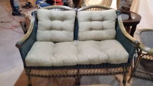 Rattan Furniture - 4 Piece Set with Cushions - GREAT CONDITION