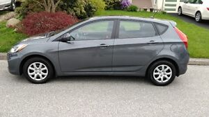 2013 HYUNDAI ACCENT 5 DR HB ONE OWNER/VERY LOW KMS