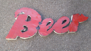 Vintage Hand Made Beer Sign