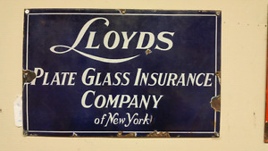 Vintage Porcelain Sign New York USA 17 X 12 Inches
