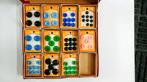 Vintage Buttons Store Display (53 cards)