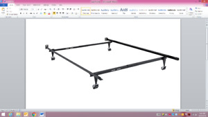 Slightly used adjustable Metal Bed Frame