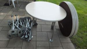 tables rondes 36 pouces