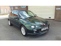 2004 MG/ MGF ZR 1.4 105 BHP 3 DOOR WITH ONLY 54000 MILES WARRANTED,LAST OWNER