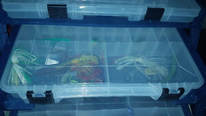 2 Tackle boxes full of gear and 2 Baitcaster reels w/ ugly stick Windsor Region Ontario image 5
