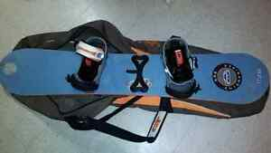 Old Snowboard with Newer Bindings and Bag