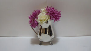 SILVER PLATED PITCHER USE AS A FLORAL VASE