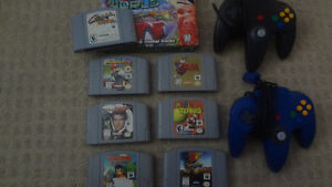 n64  6 games and 2 controllers