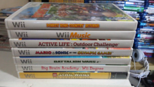 8 Wii games for 20$