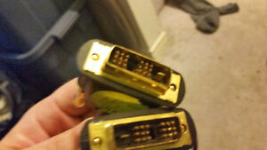 Monster DVI cables with 24 carat gold tipped ends mint condition London Ontario image 4