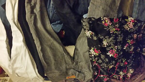 Clothing mostly jeans