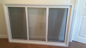 Vinyl window with  side  screens. Very good condition.