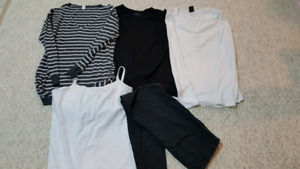 Collection of maternity clothes (small/medium)
