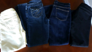 Silver jeans & old navy jeans