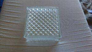 "10 pieces of Glass Cinder Blocks 7 3/4"" X 7 3/4"" X 3 1/4"""