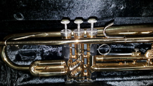 Used but Excellent condition Bb Holton Brass Trumpet for sale- $