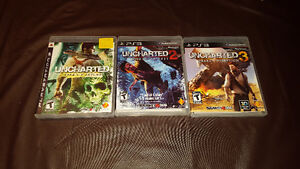 Uncharted 1, 2, and 3