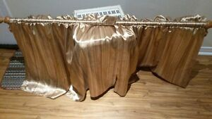 Wooden Curtain Rod with Curtains