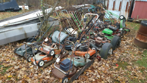 Lawn mowers parts and projects Vintage