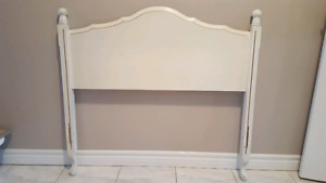 Vintage French Provincial Single bed, headboard and nightstand