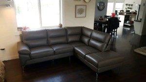 Beautiful leather sectional!