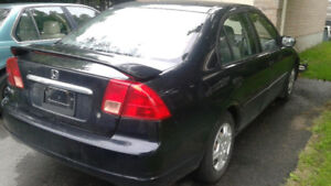 Black 2001 Honda Civic Sedan - As is