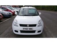 SUZUKI SWIFT 1.3GL 3DR IN DIAMOND WHITE, STUNNING, FSH ONLY £15 WEEK P/LOAN 2007