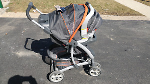 Graco Stroller and Car Seat with base
