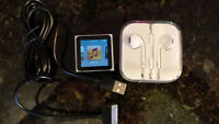7.5 GB IPod Nano with headphones and charger