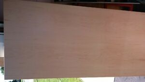 MAPLE VENEER BOOKCASE END PANELS