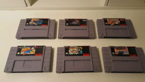 Original Super Nintendo SNES Games