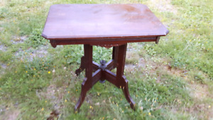 ANTIQUE Eastlake  Decorative  Wood Table