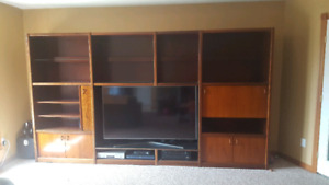 Wall Unit made from rosewood
