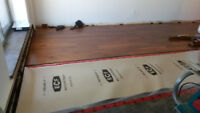 Hardwood and laminate floor install