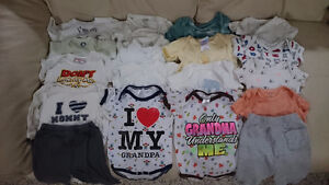 32 piece unisex/boys/girls pants outfits 0-9 months lot