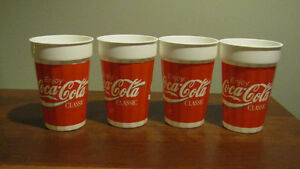 REDUCED - Lot of 4 Coca-Cola plastic glasses from the 1990's