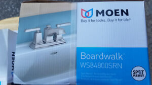 MOEN BRUSHED NICKEL WASHROOM FAUCETS - BOARDWALK