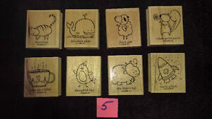 "Stampin Up Wood Stamps ""Pun Fun"" Scrapbooking or Card Making NEW"