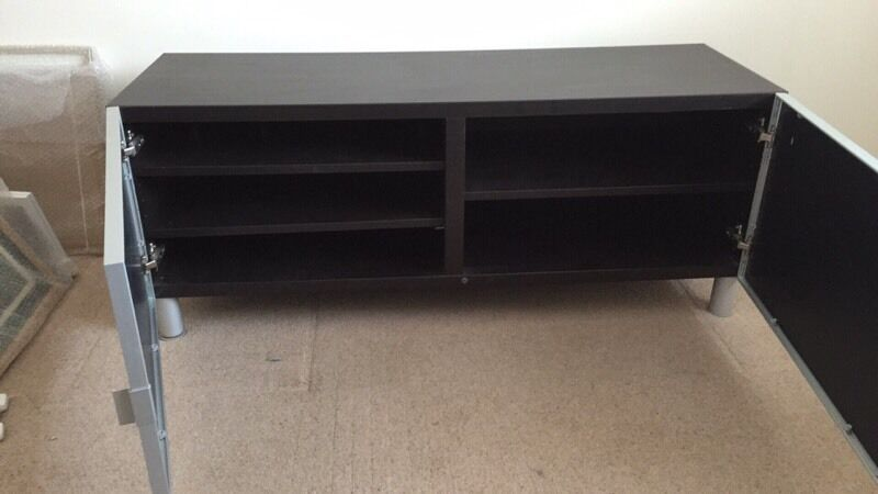 Ikea Besta Tv Stand With Glass Doors In Earl Shilton