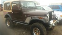 1980 cj7 4in lift new tires and suspension