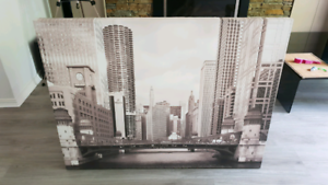 Chicago Canvas Frame Print Painting