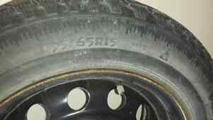 "4 - 195/65R-15 Snow Tires on 15"" steel rims - $150 London Ontario image 2"