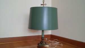 Antique French Empire Bouillotte Table Lamp.