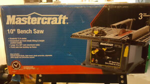 "10"" Mastercraft Table Saw with stand"