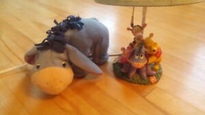 Winnie the Pooh Lamp and Eeyore talking and moving plush
