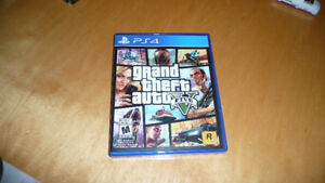 PS4 GRAND THEFT AUTO Game  PLAYED ONCE