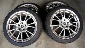 4 BLIZZAK WS60 245/40R18 Snow tires on ENKEI AMMODO wheels